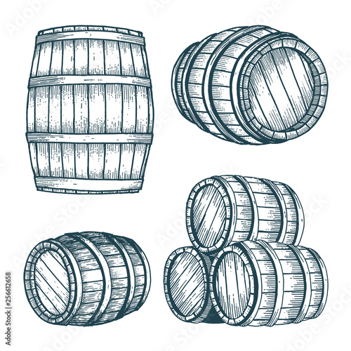 Barrel Wallpaper Mural
