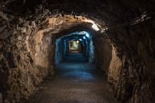Underground Corridor In An Old Gold Mine And Arsenic