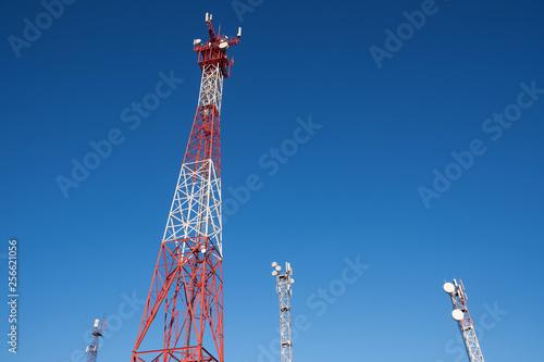 Fotografie, Tablou  Telecommunication pole in distant district