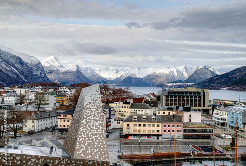 Foto auf Leinwand Dunkelgrau Andalsnes Norway