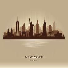 New York City Skyline Vector S...