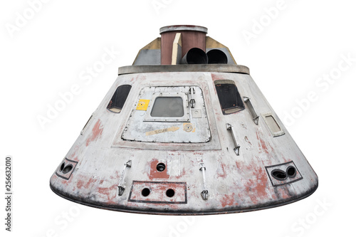 Vászonkép Space capsule isolated with clipping path on white background