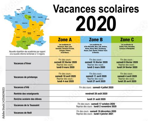 Calendrier Scolaire 2020 Et 2021.Vacances Scolaire 2020 Acheter Ce Vecteur Libre De Droit