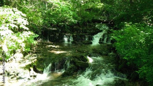 Wall Murals Forest waterfall in forest