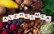 Leinwanddruck Bild - Nutrition for Alzheimer Disease
