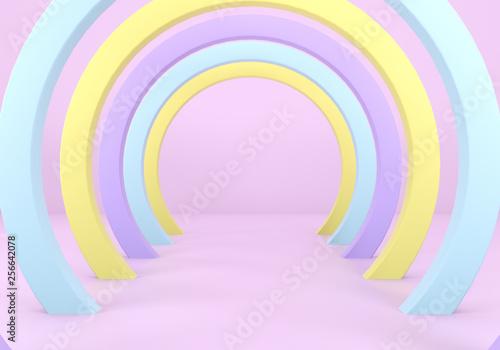 pastelowe 3d abstrakcyjne tło, renderowania 3d