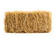 canvas print picture - dry haystack isolated