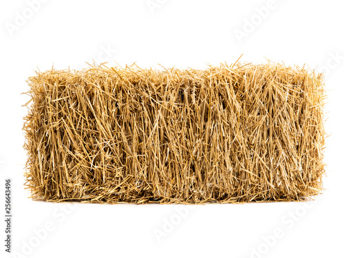 Photo dry haystack isolated
