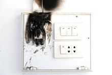 Burnt And Melt Down Electrical Output From Over Usage Of Electrical Devices