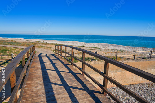 La Llosa beach in Castellon of Spain