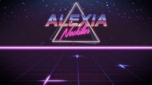 First Name Alexia In Synthwave...
