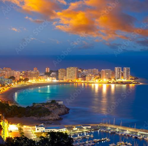 Oropesa de Mar beach La Concha sunset Fototapete