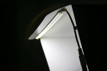 LED On A Mini Studio Light Box.