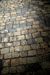 Stone blocks on the road as an abstract background