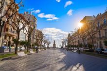 Rambla Nova In Tarragona Of Catalonia
