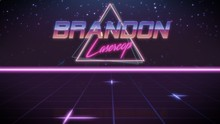 First Name Brandon In Synthwav...