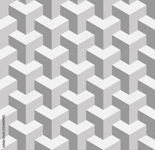 Cuadros en Lienzo Seamless 3D geometrical pattern of overlapping cubes