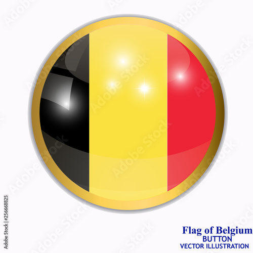Fotografía  Banner with flag of Belgium