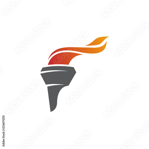 Cuadros en Lienzo olympic torch logo vector