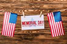 Card With Memorial Day Letteri...