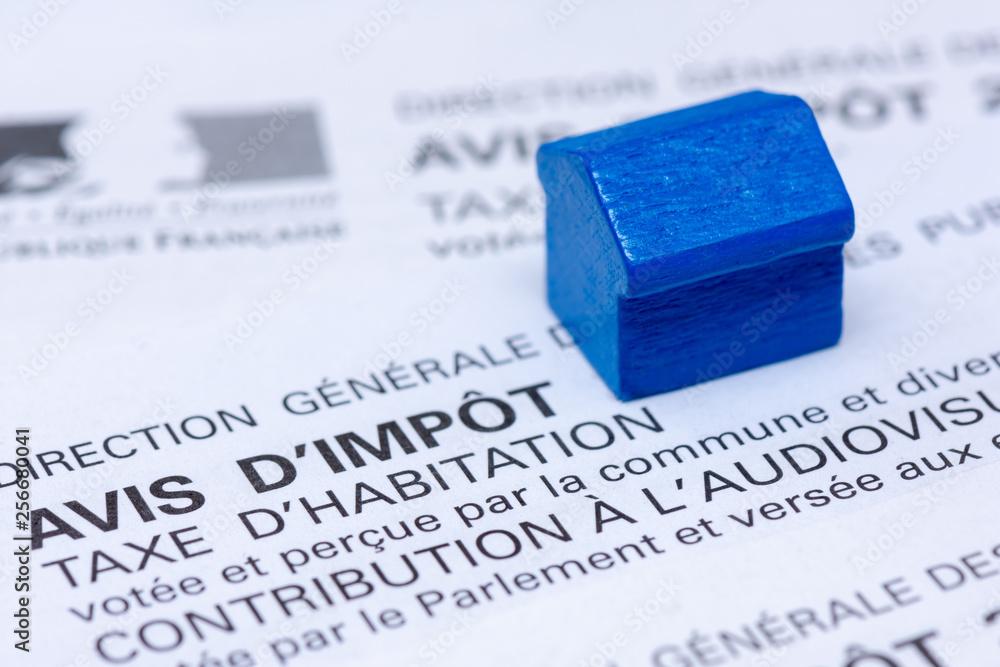 Fototapeta Avis d'impôt taxe d'habitation, France