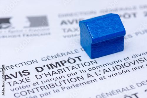Photo Avis d'impôt taxe d'habitation, France