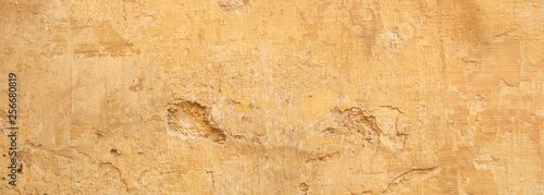 Poster Algerije Beige yellow color, painted and faded wall texture grunge background
