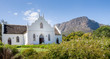 canvas print picture - Dutch Reformed Church, Franschhoek, Cape Town, South Africa