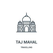Taj Mahal Icon Vector From Tra...