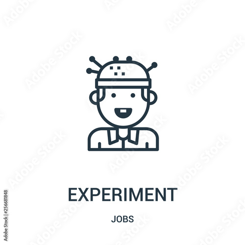 Fotografie, Obraz  experiment icon vector from jobs collection