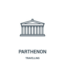 Parthenon Icon Vector From Tra...