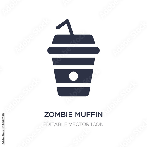 Fotografie, Obraz  zombie muffin icon on white background