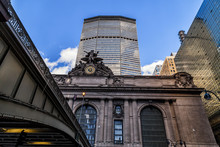 Grand Central Station In New York City, South Facade.