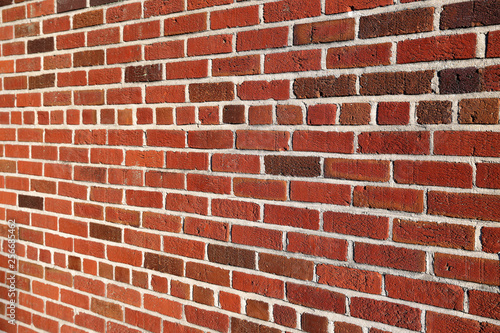 Brick wall background angled with copy space for text