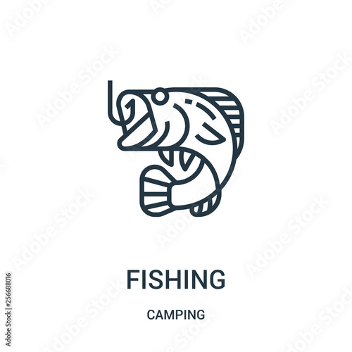 Fotografie, Obraz  fishing icon vector from camping collection