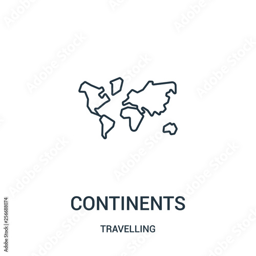 continents icon vector from travelling collection Fototapet