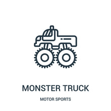 Monster Truck Icon Vector From...