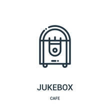 Jukebox Icon Vector From Cafe ...