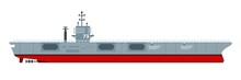 Aircraft Carrier Vector Flat I...