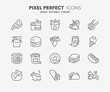 fast food thin line icons