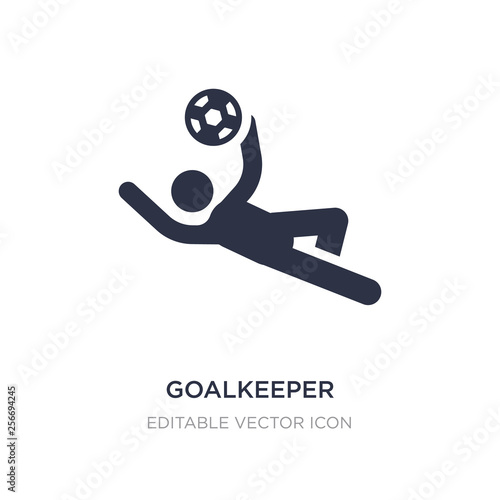 Fotomural goalkeeper icon on white background