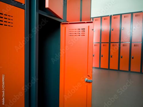 Fotografia, Obraz Closeup of locker room situated in work place