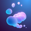 Abstract colorful liquid shapes background
