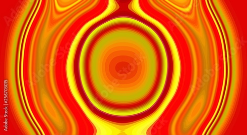 Psychedelic symmetry abstract pattern and hypnotic background,  color wallpaper Canvas Print