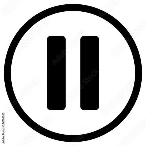 Photo gz379 GrafikZeichnung - german - pause button - english - pause icon - rounded s