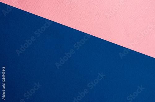 Fényképezés  Sheets of colored paper. Blue, pink.