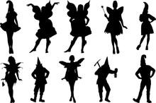 Gnome Silhouette Shape Vector