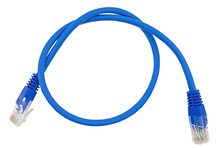 Blue Lan Cable On White