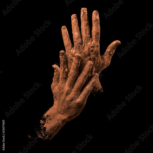 clay hands Wall mural