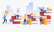 People earning money vector illustration